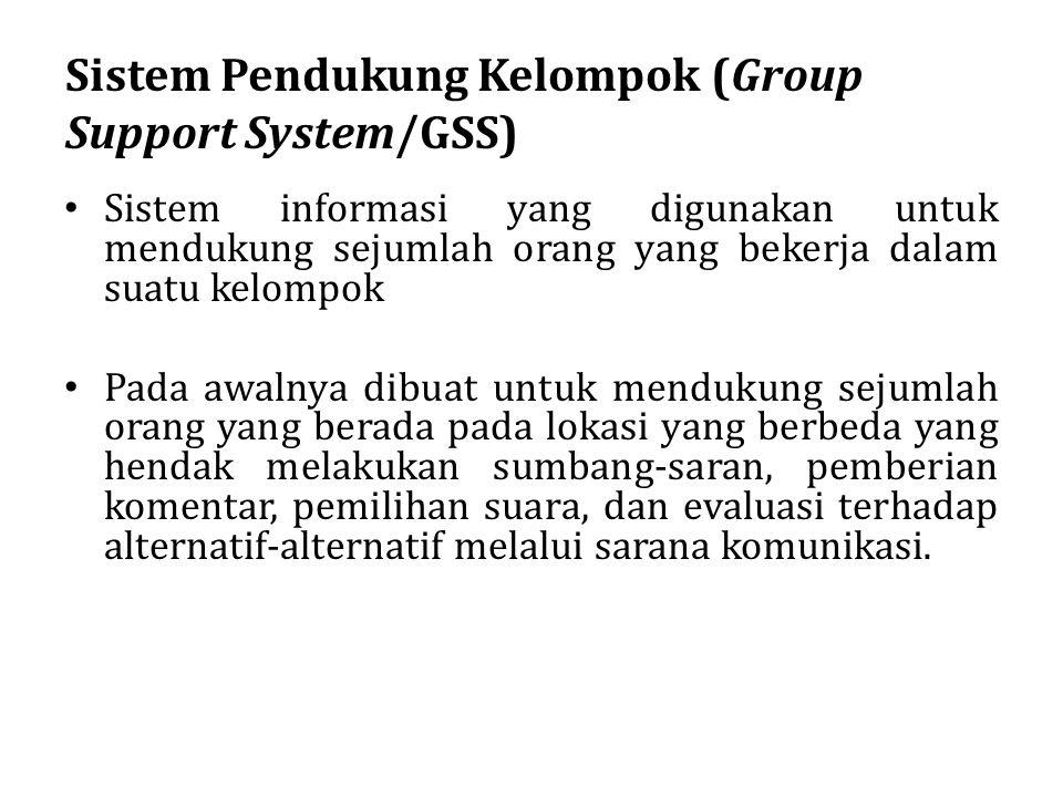 Sistem Pendukung Kelompok (Group Support System/GSS)