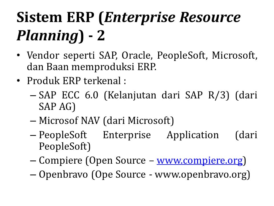 Sistem ERP (Enterprise Resource Planning) - 2