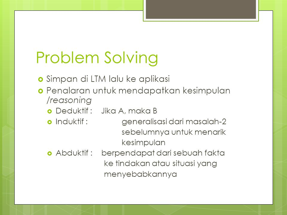 Problem Solving Simpan di LTM lalu ke aplikasi
