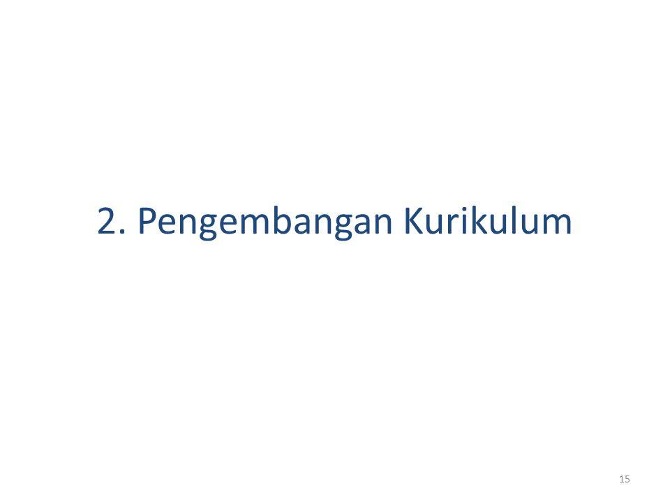 2. Pengembangan Kurikulum