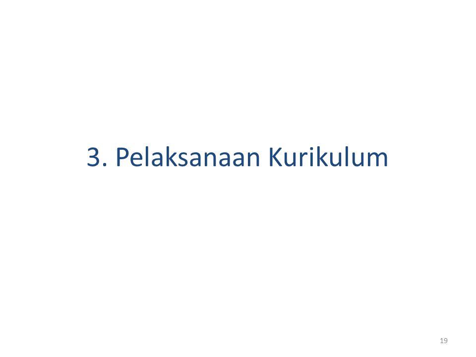 3. Pelaksanaan Kurikulum