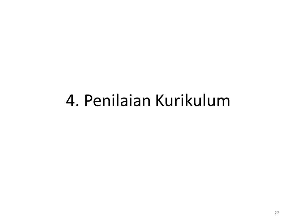 4. Penilaian Kurikulum
