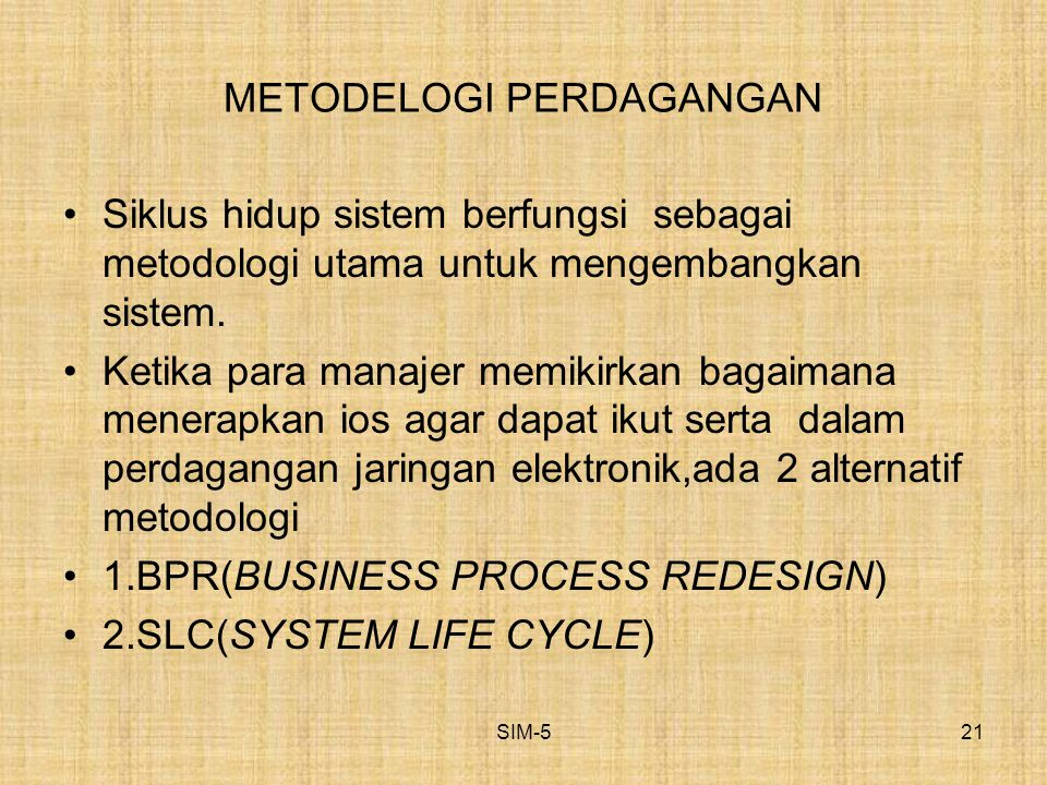 METODELOGI PERDAGANGAN