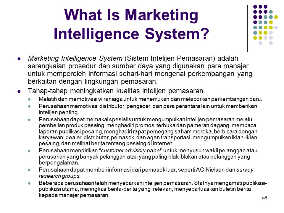 What Is Marketing Intelligence System