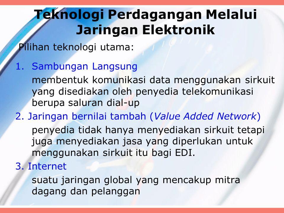 Teknologi Perdagangan Melalui Jaringan Elektronik
