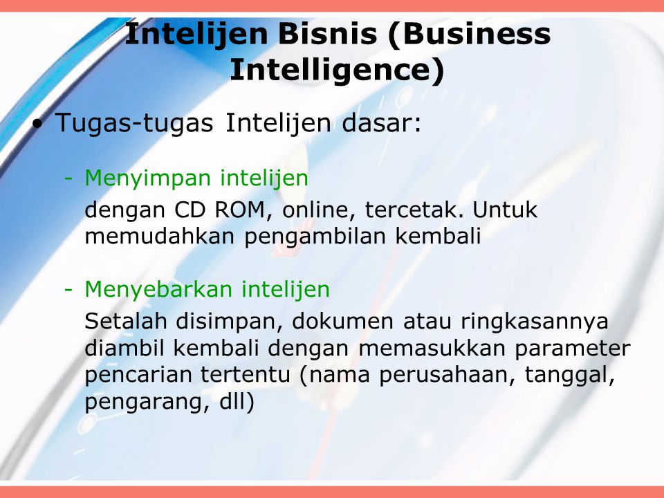 Intelijen Bisnis (Business Intelligence)