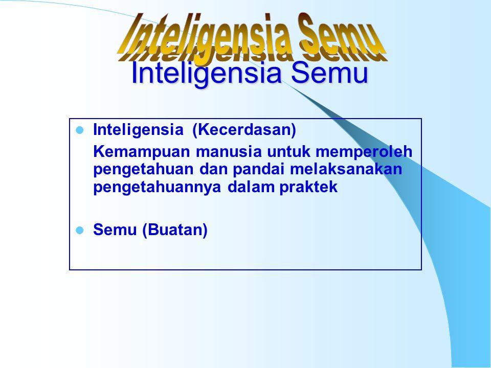 Inteligensia Semu Inteligensia Semu Inteligensia (Kecerdasan)