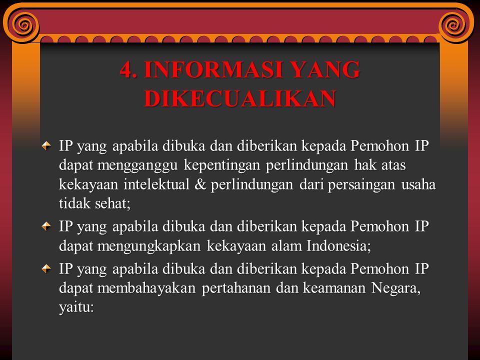 4. INFORMASI YANG DIKECUALIKAN
