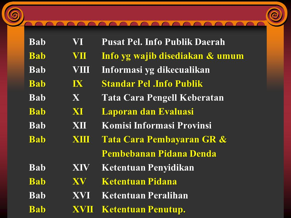 Bab VI Pusat Pel. Info Publik Daerah