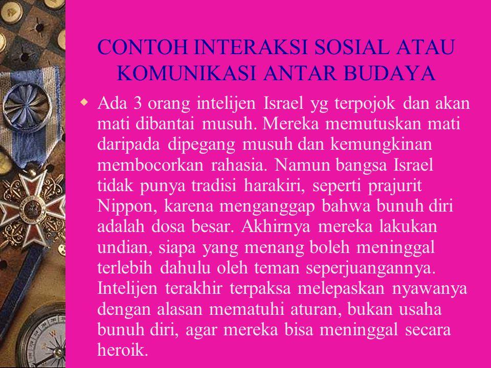 CONTOH INTERAKSI SOSIAL ATAU KOMUNIKASI ANTAR BUDAYA