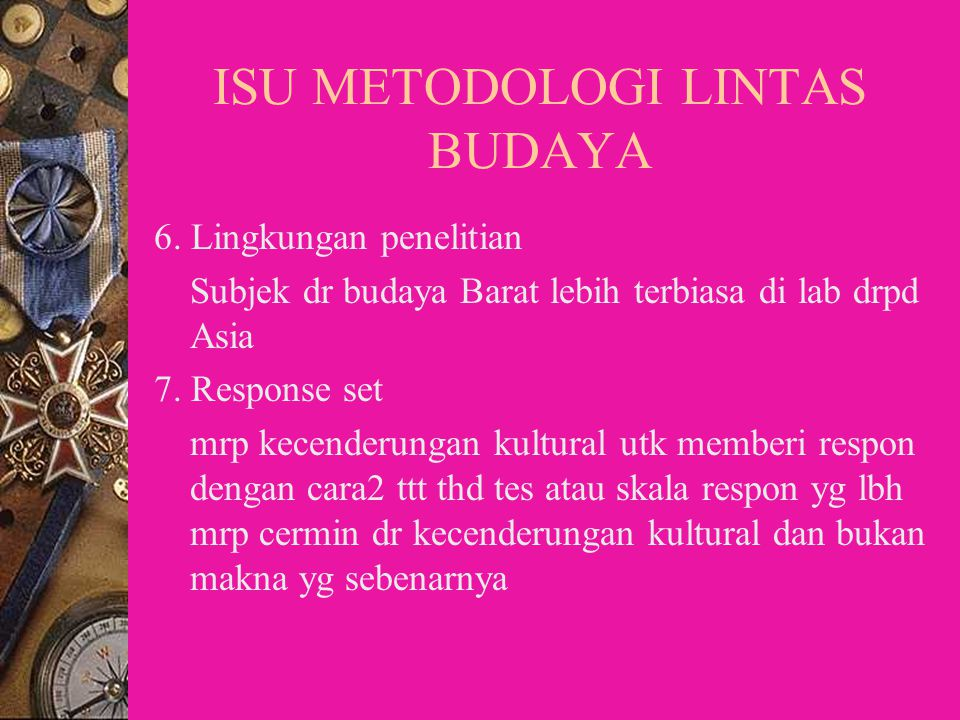 ISU METODOLOGI LINTAS BUDAYA