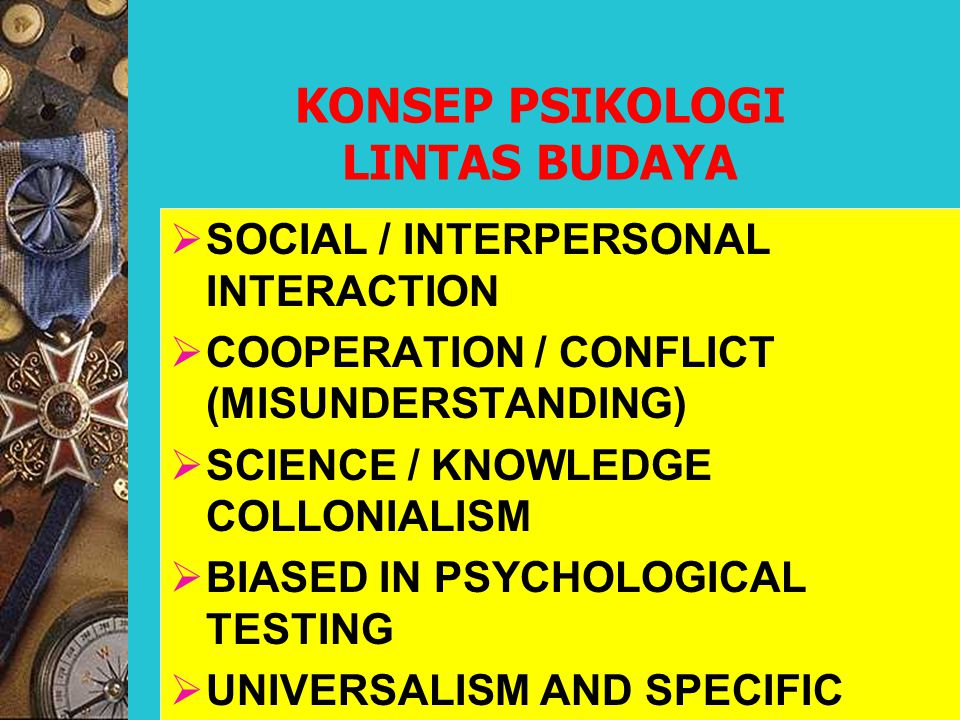 KONSEP PSIKOLOGI LINTAS BUDAYA