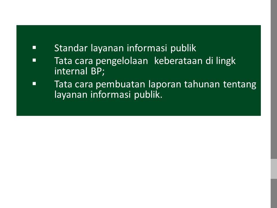 Standar layanan informasi publik