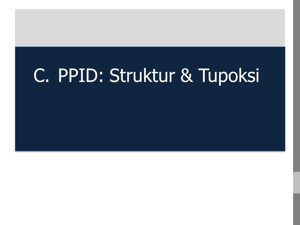 C. PPID: Struktur & Tupoksi