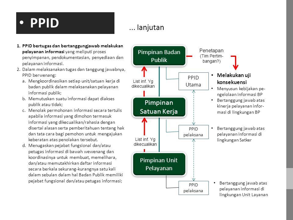 PPID ... lanjutan Pimpinan Satuan Kerja Pimpinan Badan Publik