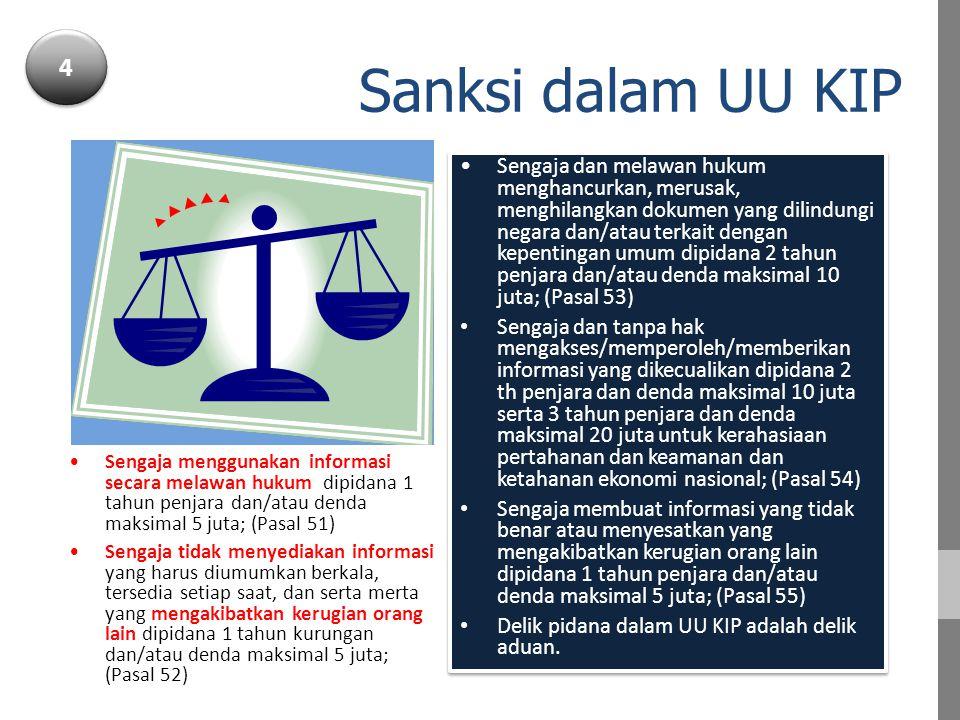 4 Sanksi dalam UU KIP.