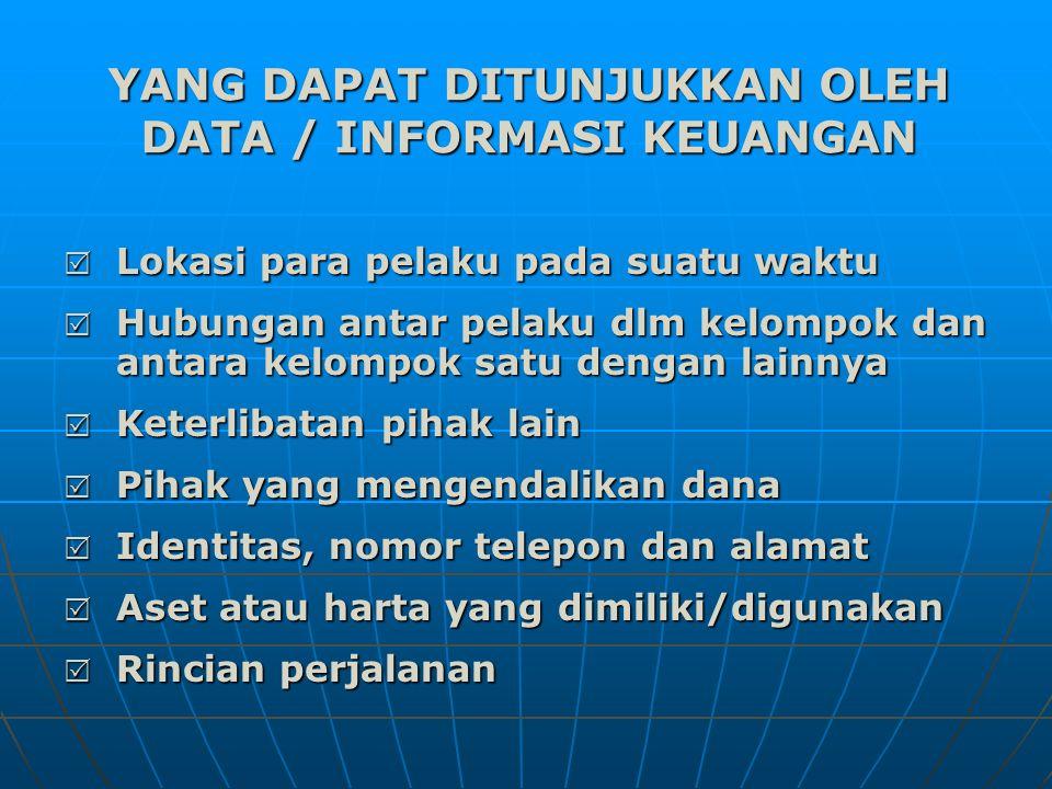 YANG DAPAT DITUNJUKKAN OLEH DATA / INFORMASI KEUANGAN