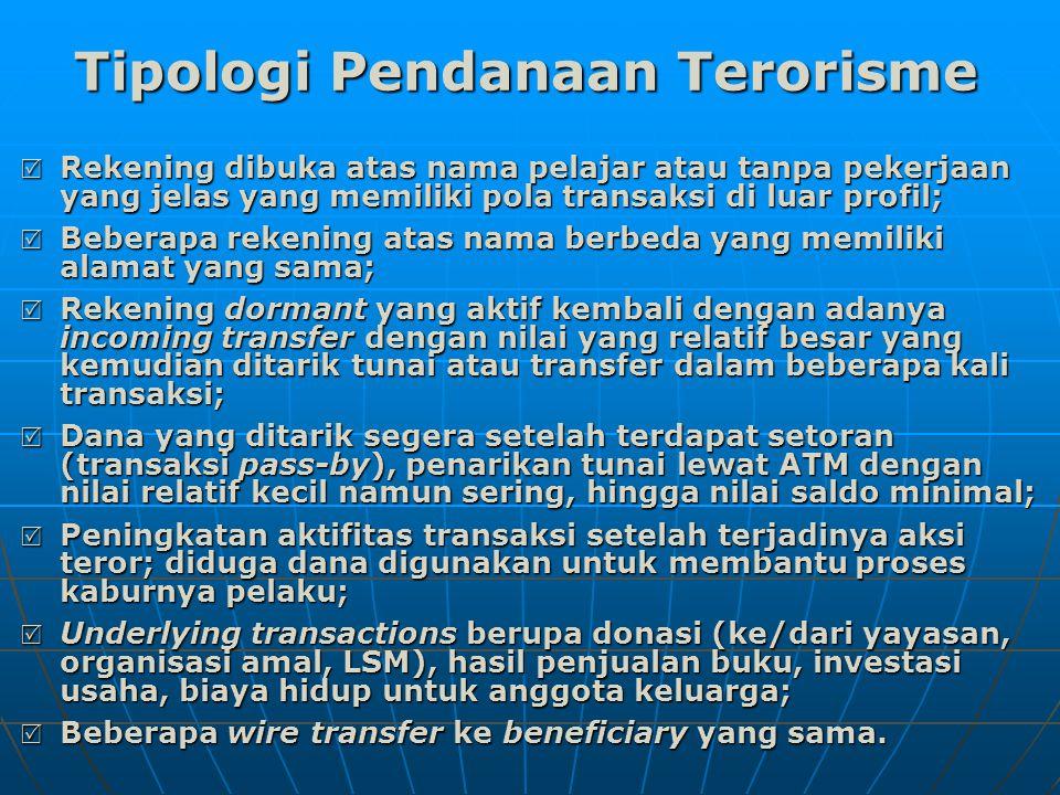 Tipologi Pendanaan Terorisme