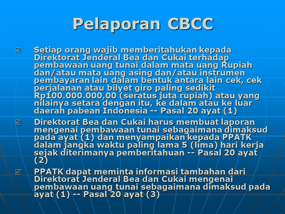 Pelaporan CBCC