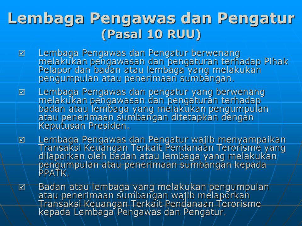 Lembaga Pengawas dan Pengatur (Pasal 10 RUU)