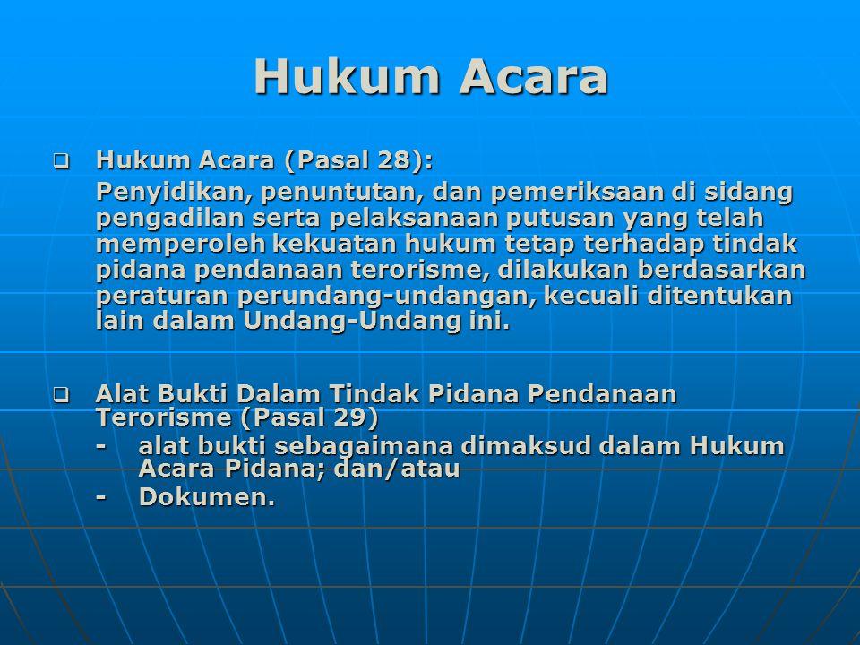 Hukum Acara Hukum Acara (Pasal 28):