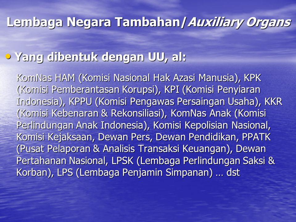 Lembaga Negara Tambahan/Auxiliary Organs