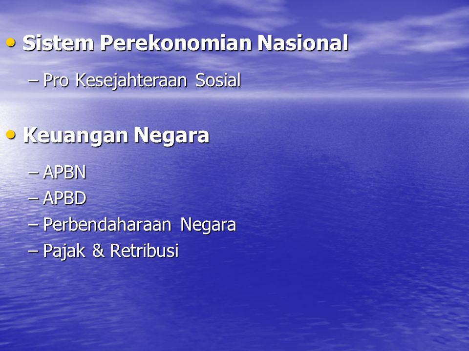 Sistem Perekonomian Nasional
