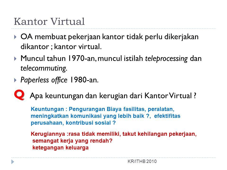 Q Apa keuntungan dan kerugian dari Kantor Virtual