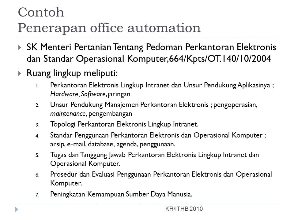 Contoh Penerapan office automation