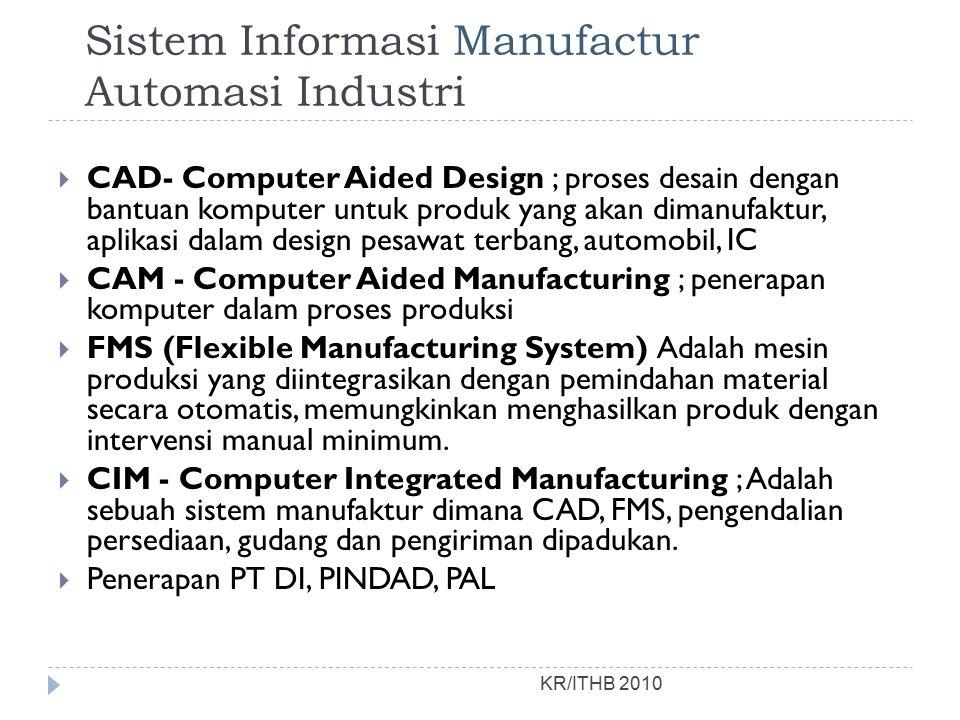 Sistem Informasi Manufactur Automasi Industri