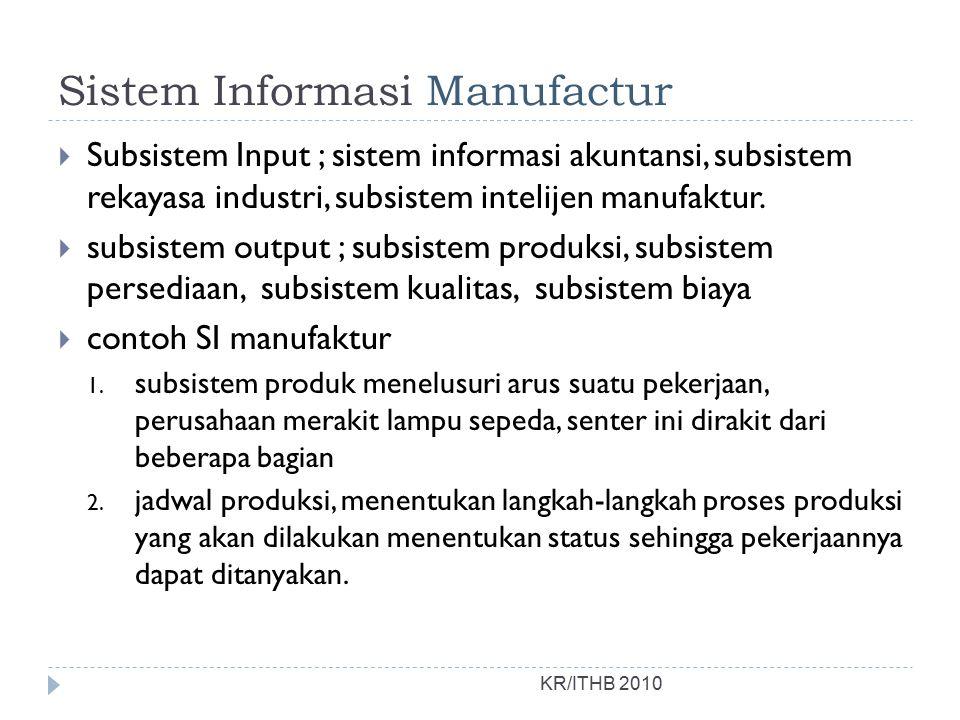 Sistem Informasi Manufactur