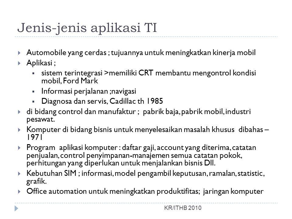 Jenis-jenis aplikasi TI
