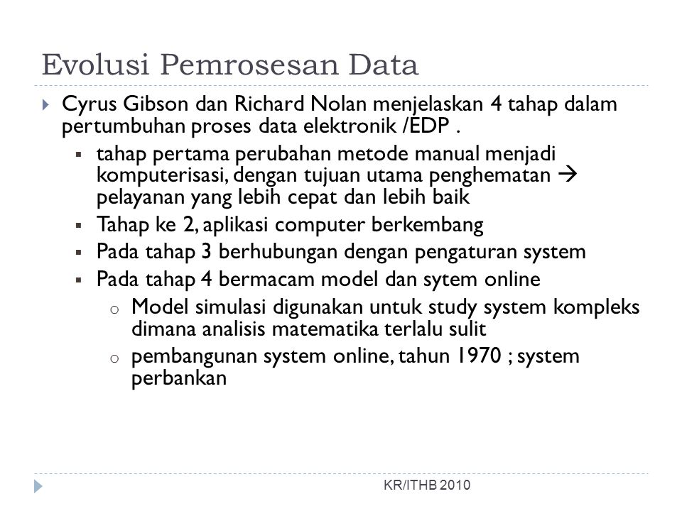 Evolusi Pemrosesan Data