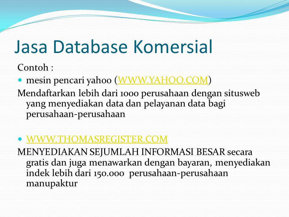 Jasa Database Komersial