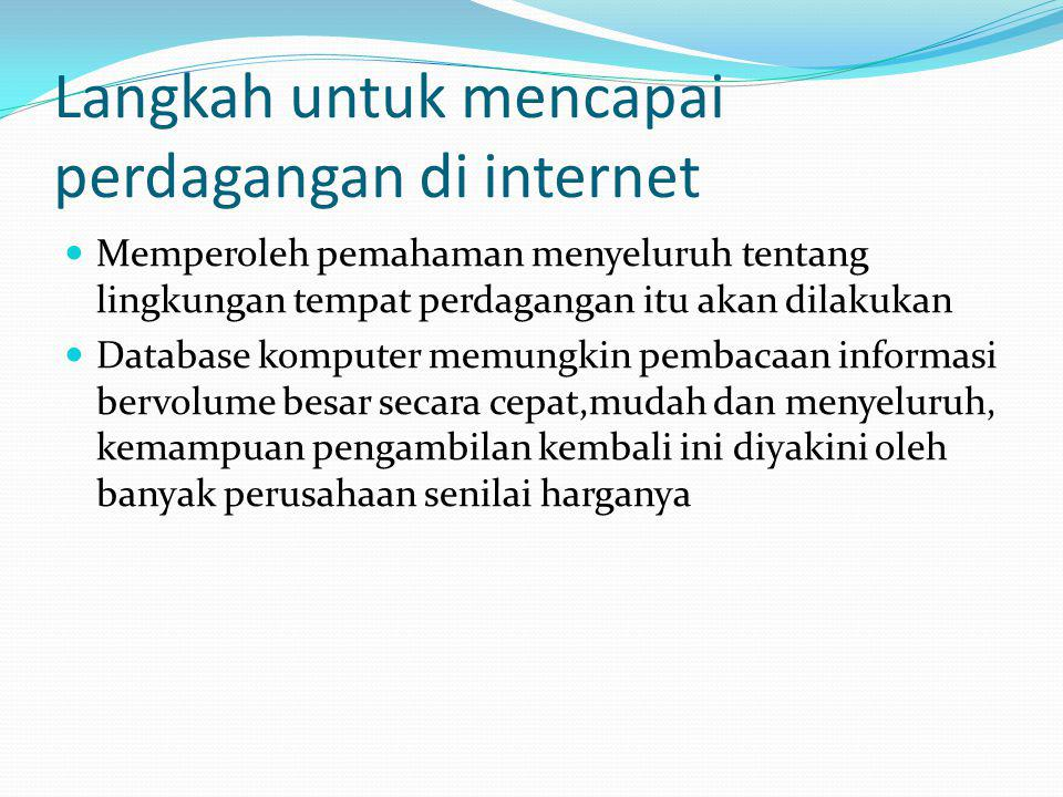 Langkah untuk mencapai perdagangan di internet