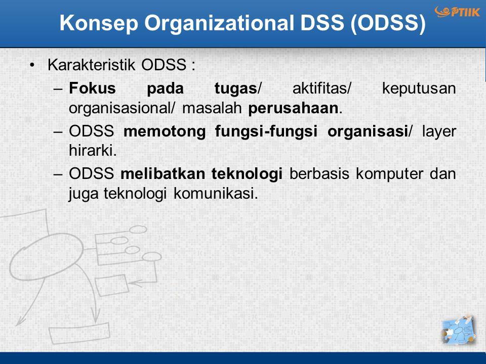 Konsep Organizational DSS (ODSS)