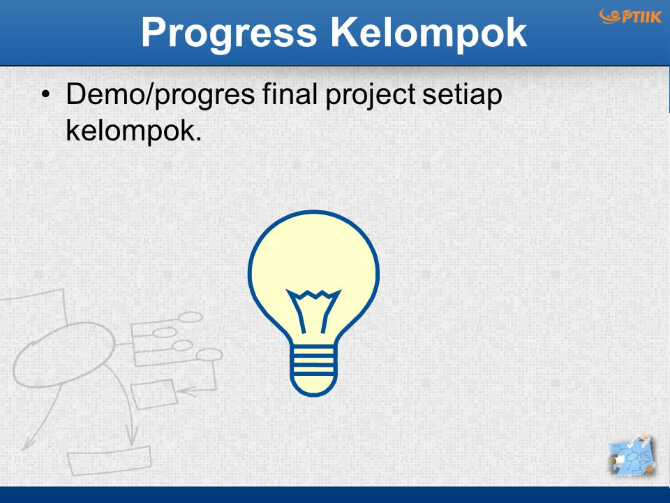 Progress Kelompok Demo/progres final project setiap kelompok.