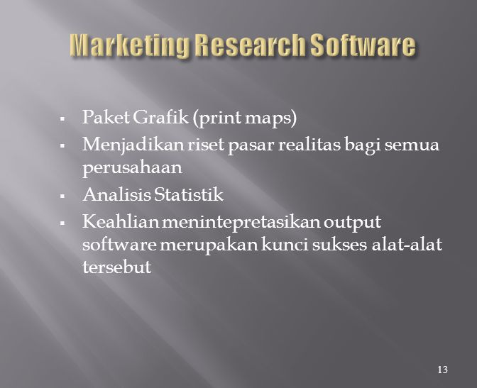 Marketing Research Software