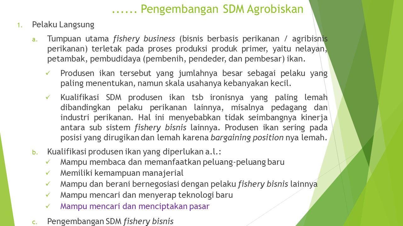 ...... Pengembangan SDM Agrobiskan