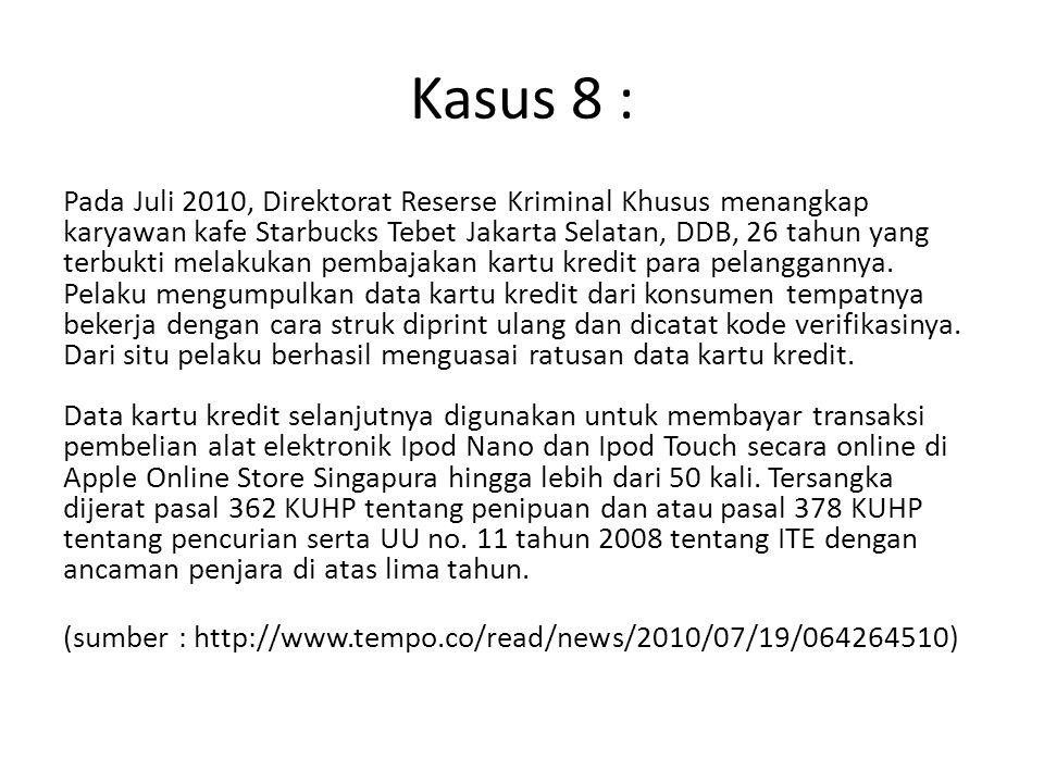 Kasus 8 :