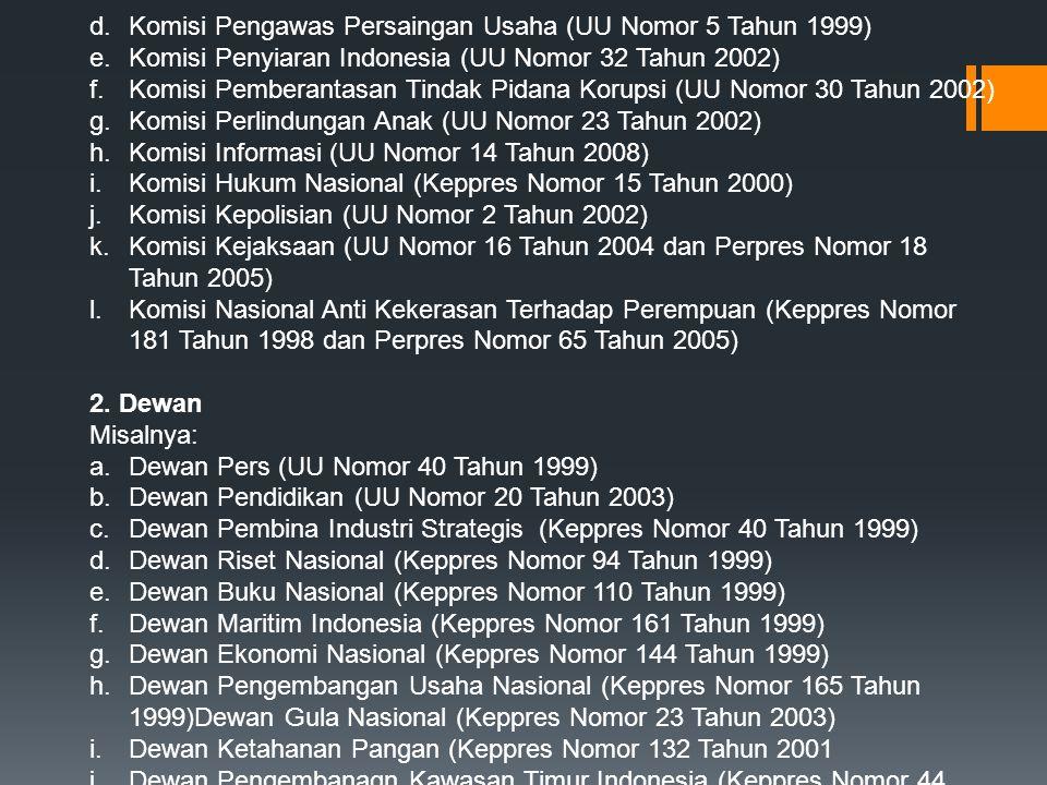 Komisi Pengawas Persaingan Usaha (UU Nomor 5 Tahun 1999)