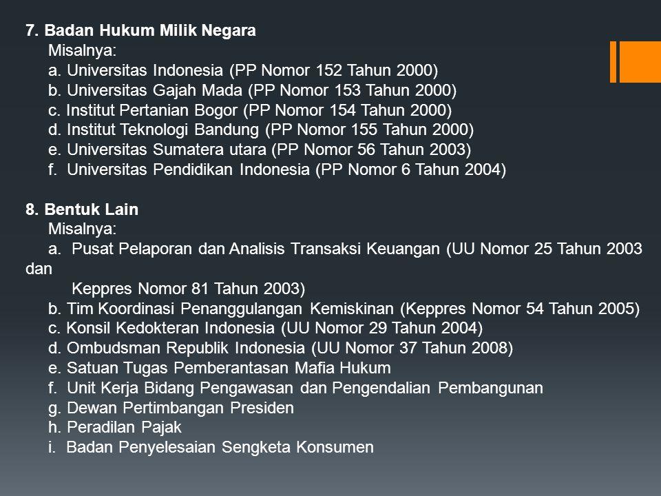 7. Badan Hukum Milik Negara