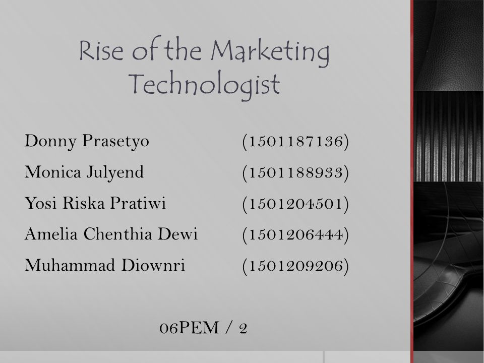 Rise of the Marketing Technologist