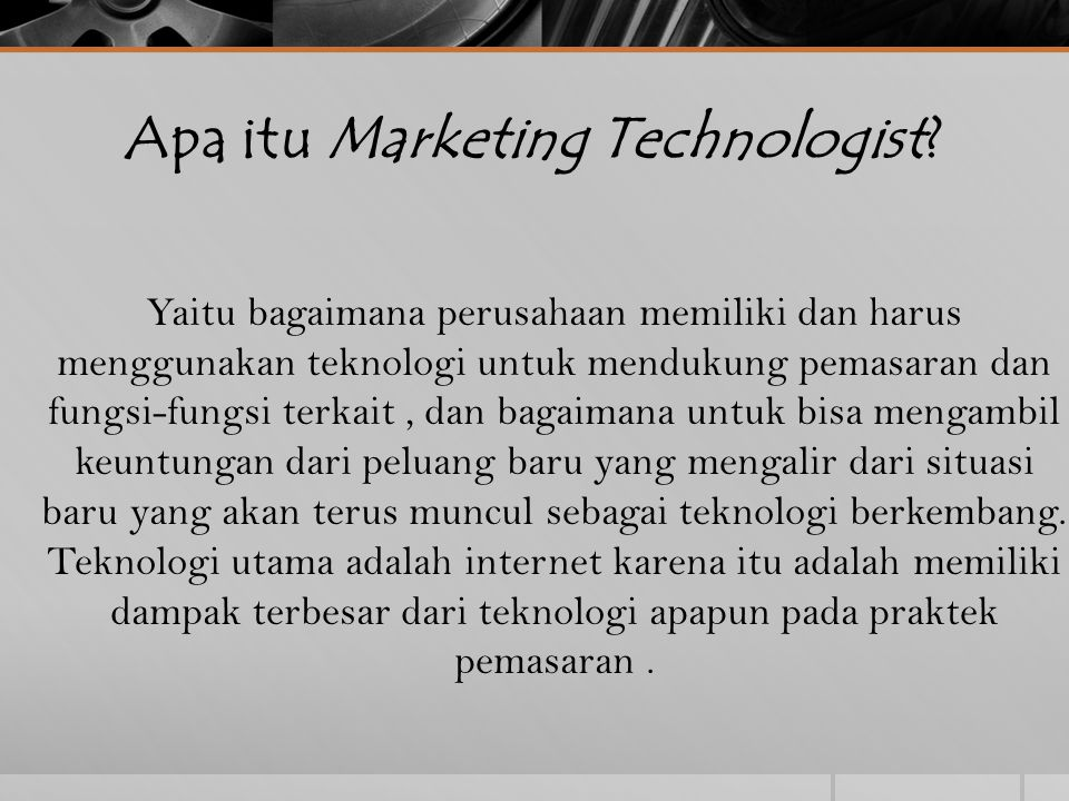 Apa itu Marketing Technologist