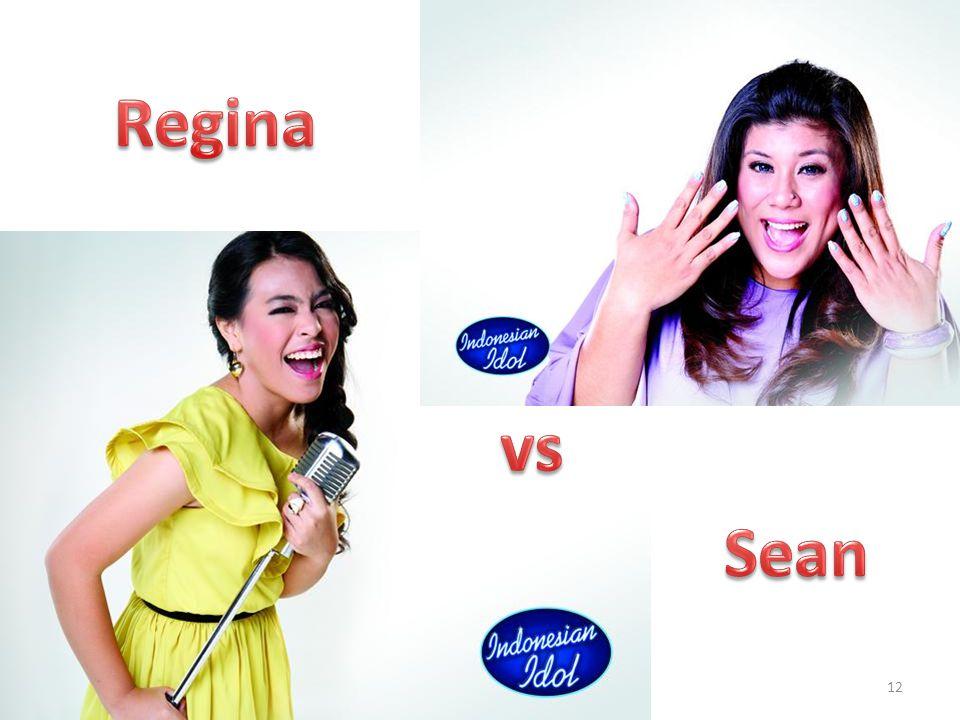 Regina vs. Pertama, ambil sampel dua kali dari S2KK, dibagi dua, siapa yang menang Sean. 05/09/2012.