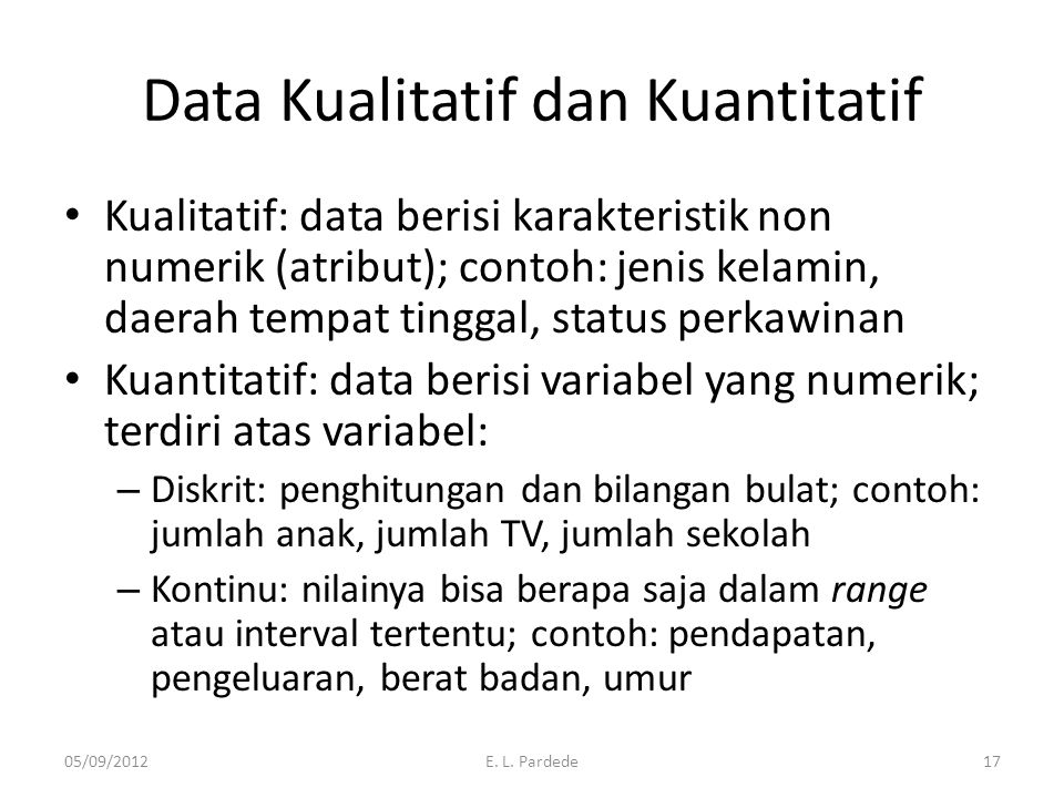 Data Kualitatif dan Kuantitatif