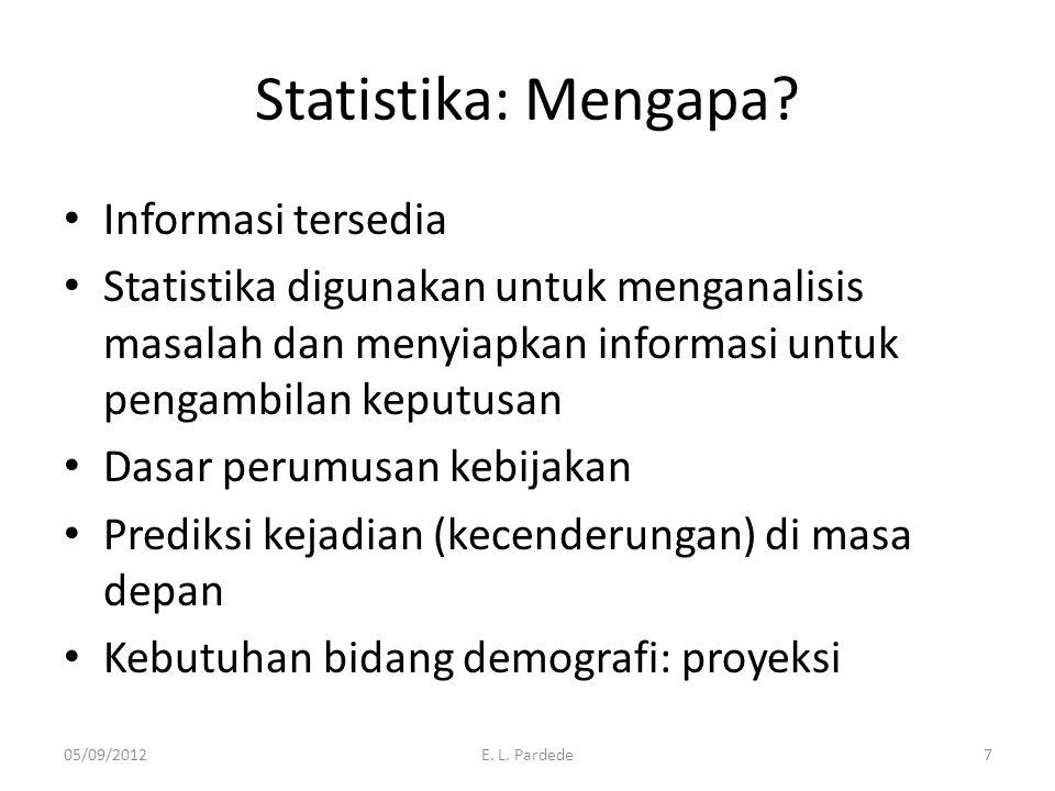 Statistika: Mengapa Informasi tersedia