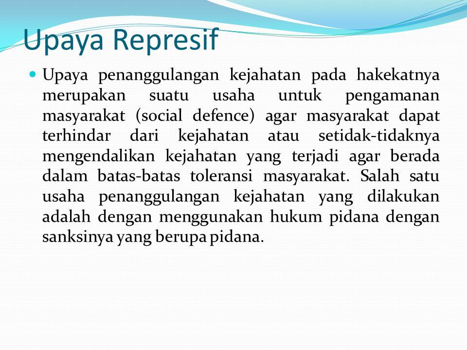 Upaya Represif