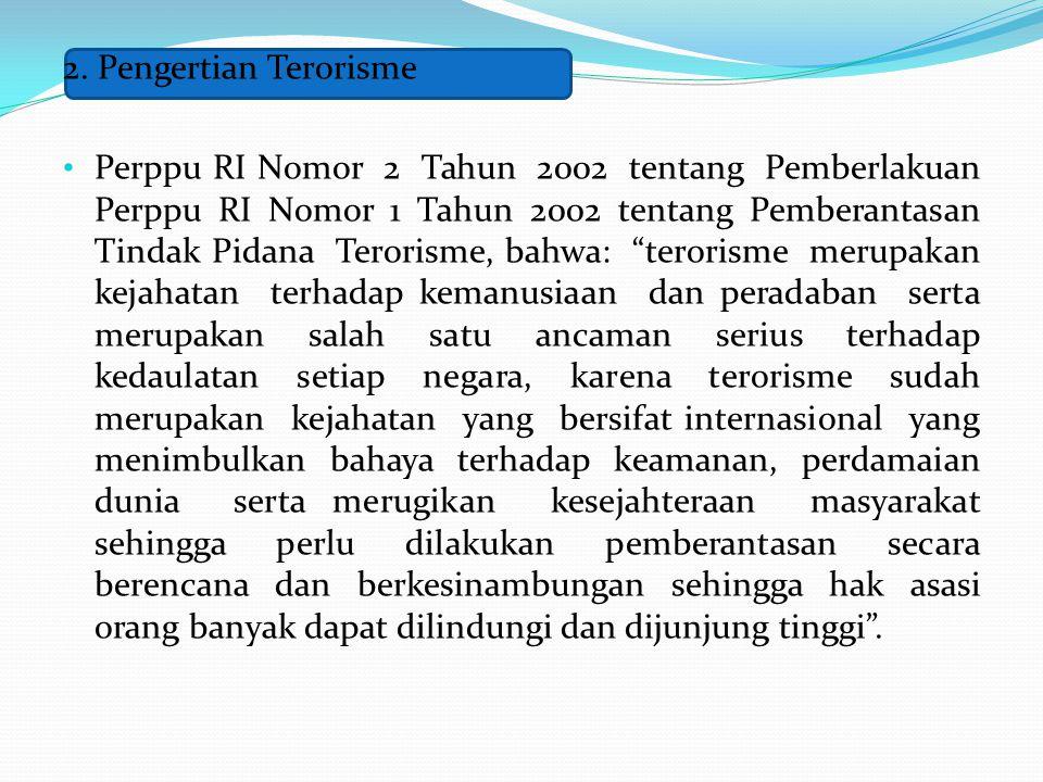 2. Pengertian Terorisme