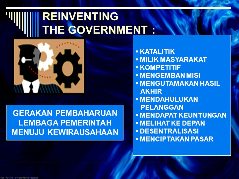 REINVENTING THE GOVERNMENT :